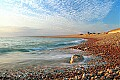 'Chesil Beach - blue sky' - click here to see an enlargement of this landscape photograph